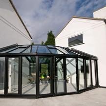 Bespoke Aluminium & Glass Link Conservatory