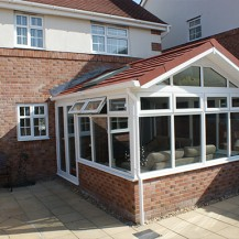 Gable Conservatory with Solid Roof