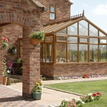 Golden Oak uPVC Gable Conservatory