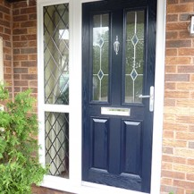 Blue Victorian Composite Door