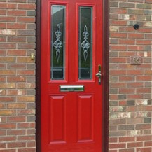 Red Victorian Composite Door