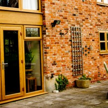 Golden oak uPVC French Door