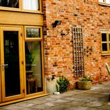 Golden oak uPVC French Door
