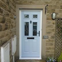 Light Blue Residential Timber Door