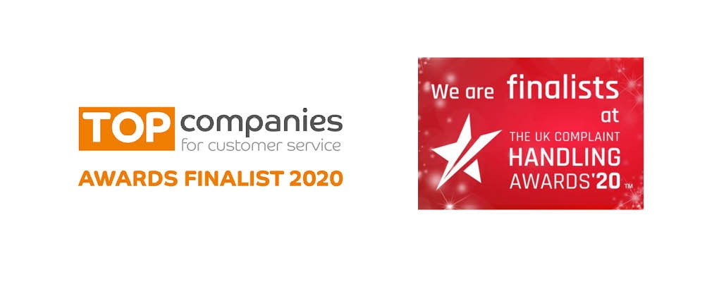QASSS shortlisted at both the UK Complaint Handling Awards and The Top 50 Companies for Customer Service Awards